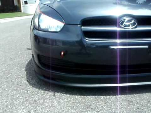 hyundai accent 2007 front lip - YouTube