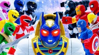 Toys Play Time Avengers vs Power Rangers Treasure Quest GIANT Egypt Guardian Full Episodes Toy Movie