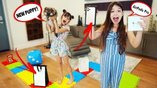 I'll BUY ANYTHING Whatever You Land On! EXPENSIVE GIANT BOARD GAME Challenge! | TwoSistersToyStyle