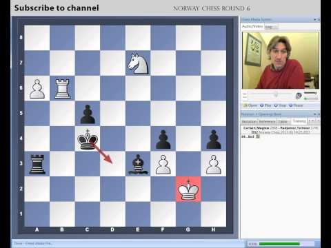 Norway Chess 2013 Round 6 Carlsen vs Radjabov