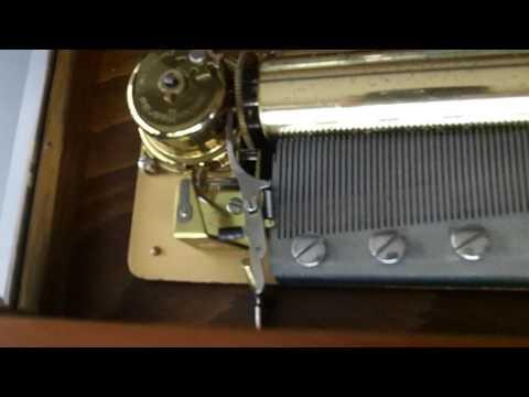 Vintage Reuge Music Box 72 Key 3 Songs