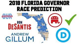 2018 Florida Governor Predictions - Andrew Gillum vs Ron DeSantis - Florida Gov Election Polls