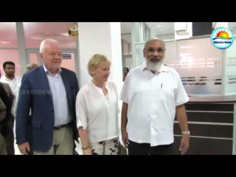 Sweden's Foreign Minister met with C.V.vigneswaran and Jaffna GA