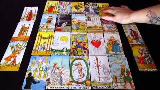Real Tarot Readings - 2015 Year Ahead Spread Part 1