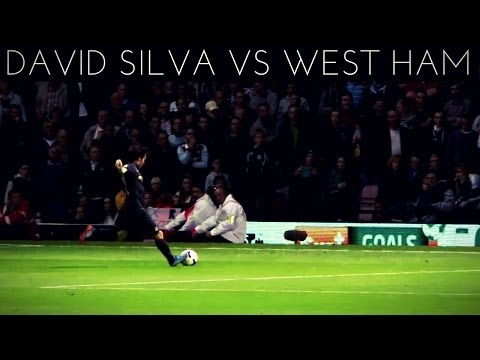 David Silva vs West Ham (A) 2013-2014 EPL HD