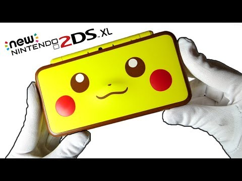 Pikachu New Nintendo 2DS XL Console Unboxing Pokemon Limited Edition