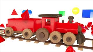 Learn Colors with Wooden Train Toy Colours and Numbers Video for Kids and Children   Learning Color
