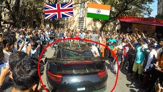 Indian Crowd going CRAZY when she started the Loud Porsche 911 GT3RS | Parx Supercar Show 2019
