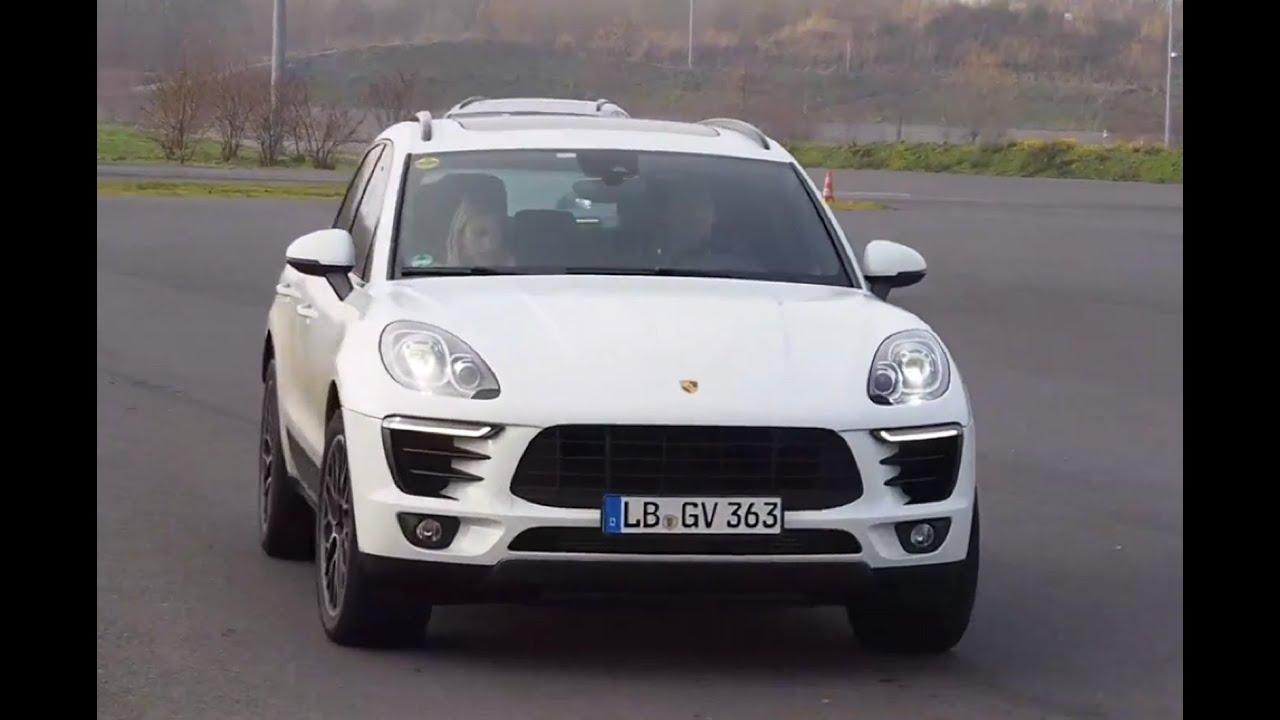 Riding shotgun in the new 2015 Porsche Macan SUV on road and off road - YouTube