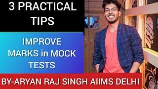 3 Simple tips to IMPROVE MARKS in MOCK TESTS|By Aryan raj singh
