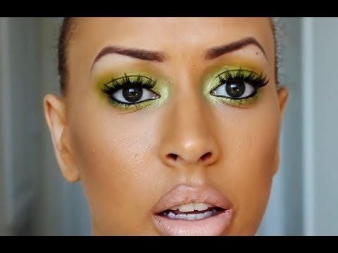 easy lime green makeup tutorial for beginners  ootd