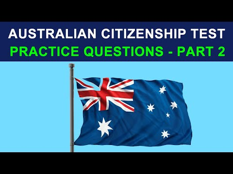 Australian Citizenship Test 2013 - Practice questions # 2