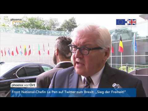 Brexit: Statement von Frank-Walter Steinmeier am 24.06.2016