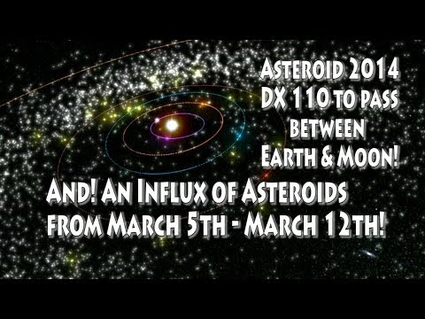 Influx of Asteroids! & Asteroid 2014 DX110 to pass between Earth & Moon!