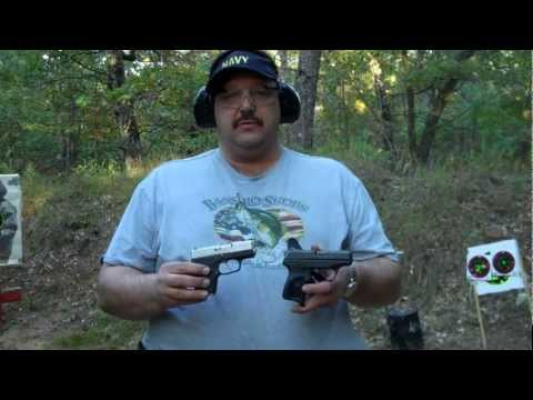 Shooting the Kahr CM9 & the Ruger LC9 outdoors