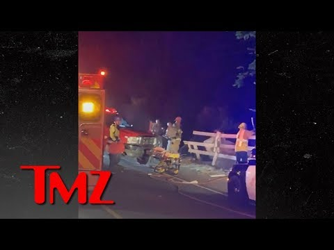 Kevin Hart's Car Goes Off Road in Nasty Accident, 2 Passengers Trapped
