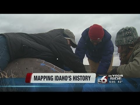 College of Western Idaho students map out petroglyphs on spring break