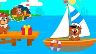 Phim hoạt hình cho bé phần 1 | Gấu con phưu lưu trên biển tặng quà cho ông | Dạy bé học