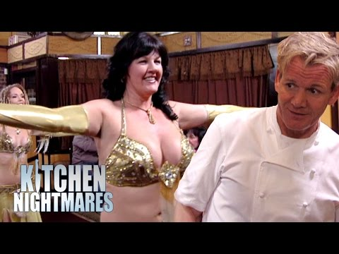 Belly dancing owner stuns gordon ramsay kitchen for Kitchen nightmares fake