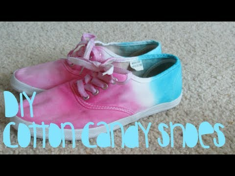 DIY: Cotton Candy Shoes!