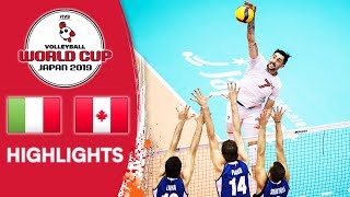 ITALY vs. CANADA - Highlights | Men's Volleyball World Cup 2019