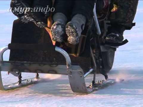 Благовещенский пенсионер из частей различных транспортных средств соорудил мотосани