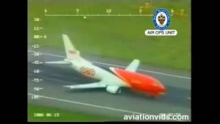 Boeing 737, accident during landing!!