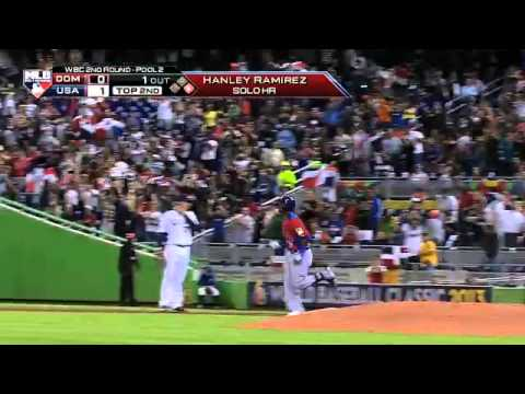Republica Dominicana Vs Estados Unidos 3 - 1 Final Hanley Ramirez Empata el Juego Con Home Run
