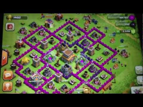 BEST Clash of Clans Defense Strategy for Town Hall level Eight!!!