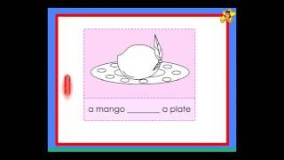 Kindergarten worksheets -  use of the word