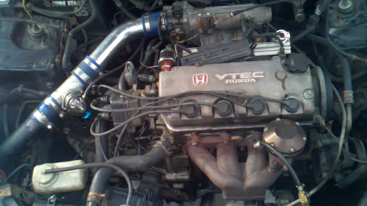 1996 Honda Civic EX TURBO D16z6 VTEC swap - YouTube