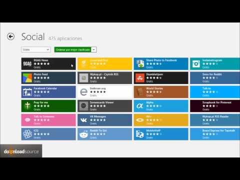 Como instalar facebook en Windows 8 y otras aplicaciones.