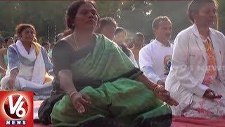 International Yoga Day: MP Vinod Kumar Performs Yoga Asanas In Karimnagar