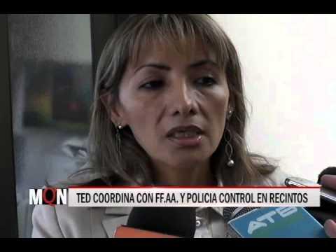 26/03/2015-19:10 TED COORDINA CON FF AA  Y POLICIA CONTROL EN RECINTOS