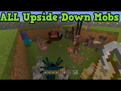 Minecraft Xbox + PS3 Upside Down Mobs Easter Egg All Mobs
