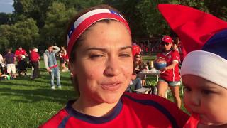Chilenos en Suecia celebran triunfo de Chile en Copa América