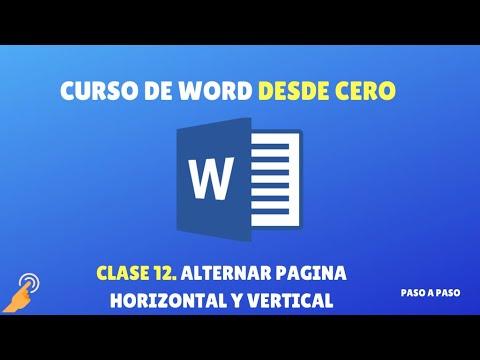 Como poner una Página Horizontal y otra en Vertical en Word
