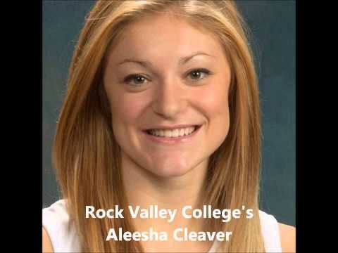 Dakota Grad and Rock Valley College's Allesha Cleaver