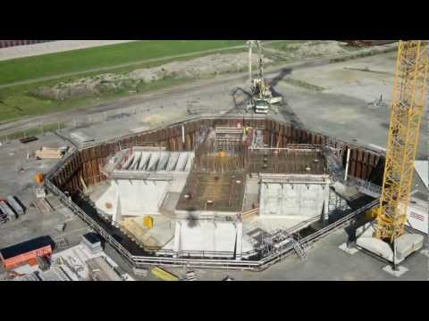 Wind turbine foundation testing, Cuxhaven - Germany