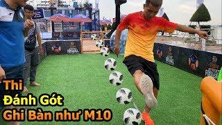 Thử Thách Bóng Đá đánh gót ghi bàn như Messi , Đỗ Kim Phúc ft Hồng Sơn ĐT Việt Nam và Duy Trung