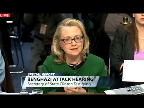 Hillary Clinton Testifies to Congress on Benghazi Consulate Attack, State Department Securit