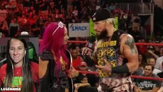 WWE Raw 8/1/16 HOW U DOIN Sasha Banks and Enzo