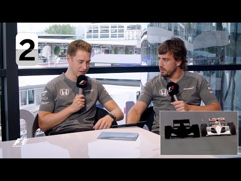 McLaren's Fernando Alonso and Stoffel Vandoorne | F1 Grill The Grid 2017