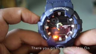 How to turn on Autolight on G-Shock GA-700 Module 5522