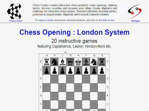 Chess opening London System - Part 10 - free book feat. 20 games - freebie, giveaway, free gifts