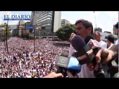 Video exclusivo: LLegada y discurso completo de Leopoldo López sobre estatua de Martí