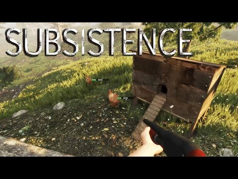 Subsistence - Attacked by Hunters! Free Range Animals, Rifle Made - Gameplay Highlights Ep 8