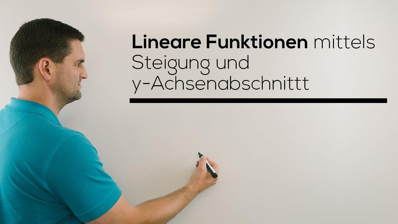 lineare funktion mittels steigung und y achsenabschnitt aufstellen nachhilfe online mathehilfe. Black Bedroom Furniture Sets. Home Design Ideas