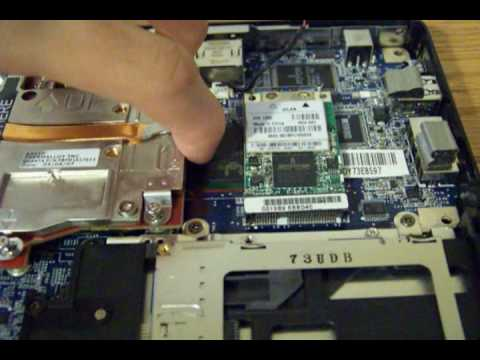 How to remove and install a laptop graphics card. (Part 1)