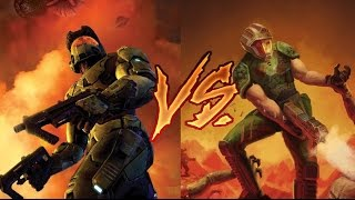 MERKED-Master Chief VS Doomguy